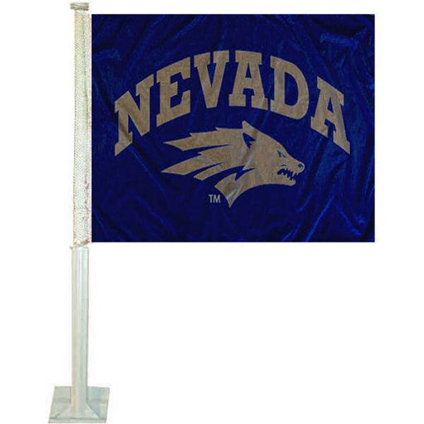 Nevada Wolf Pack Car Flag