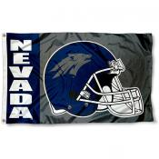 Nevada Wolf Pack Football Helmet Flag