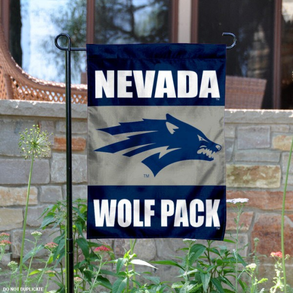 Nevada Wolf Pack Garden Flag