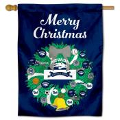 Nevada Wolfpack Christmas Holiday House Flag