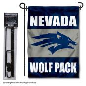 Nevada Wolfpack Garden Flag and Holder