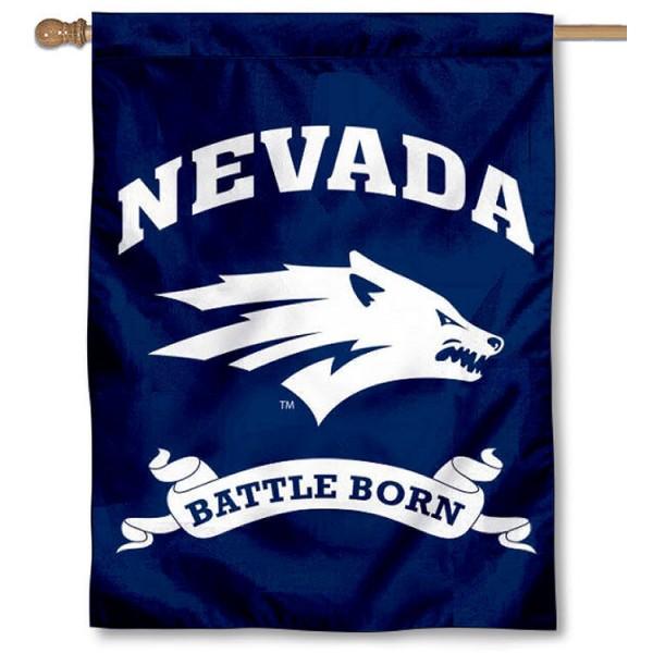 Nevada Wolfpack House Flag