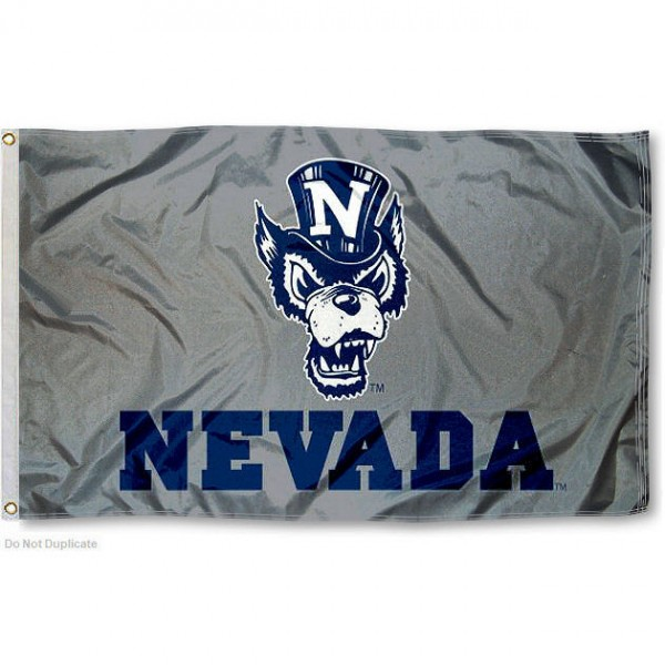 Nevada Wolfpack Silver Flag