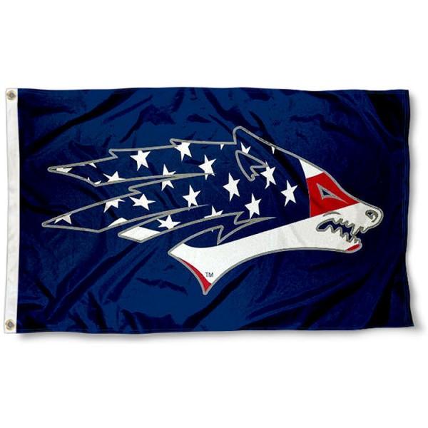 Nevada Wolfpack USA Flag Waving Logo Flag
