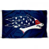 Nevada Wolfpack USA Flag Waving Logo Flag