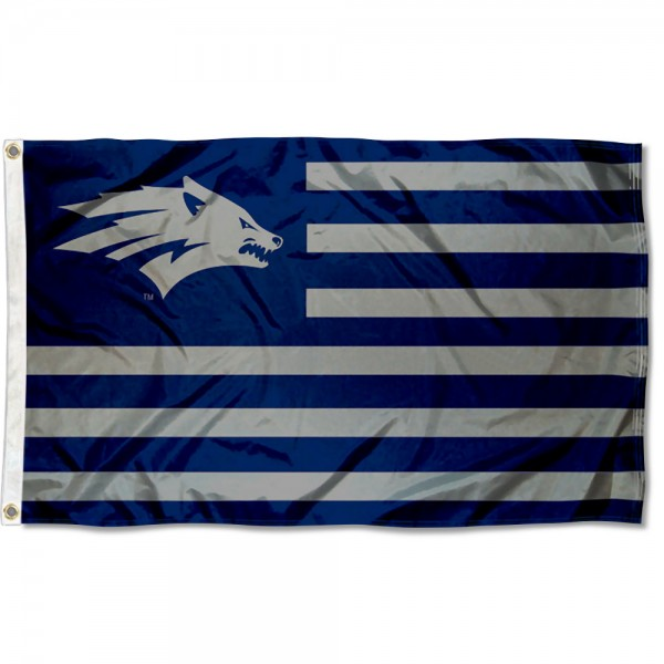 Nevada Wolfpack Wolf Logo Nation Flag