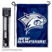 New Hampshire Wildcats Garden Flag and Yard Pole Holder Set