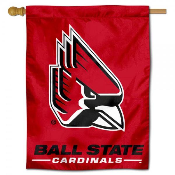 New Logo Ball State Cardinals House Flag