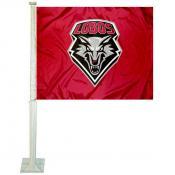 New Mexico Lobos Car Flag