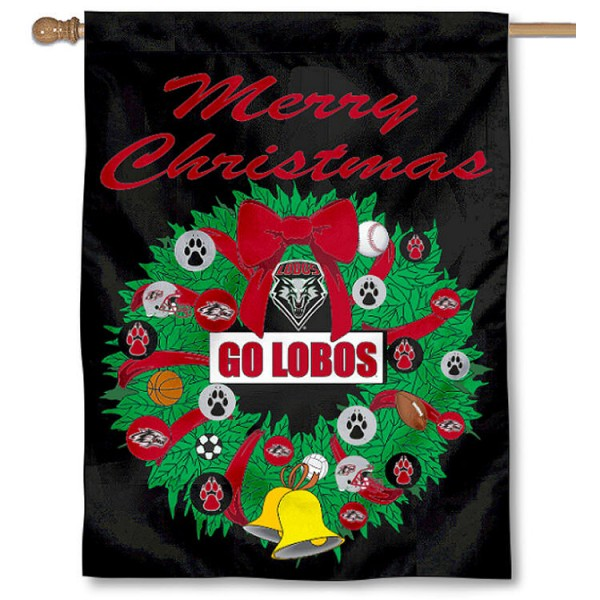 New Mexico Lobos Holiday Flag