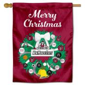 New Mexico State Aggies Christmas Holiday House Flag