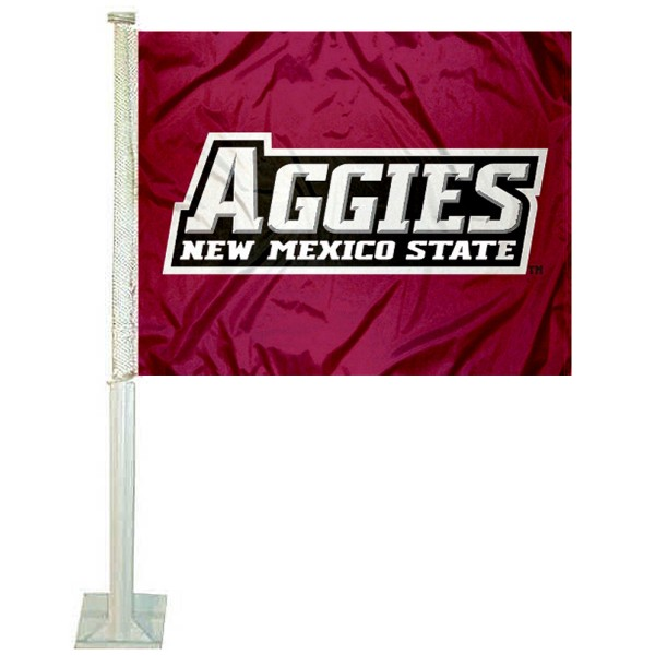 New Mexico State Aggies Logo Car Flag