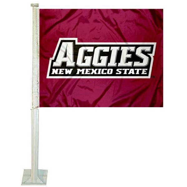 New Mexico State Aggies Logo Car Flag