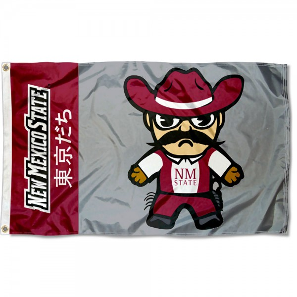 New Mexico State Aggies Tokyodachi Cartoon Mascot Flag