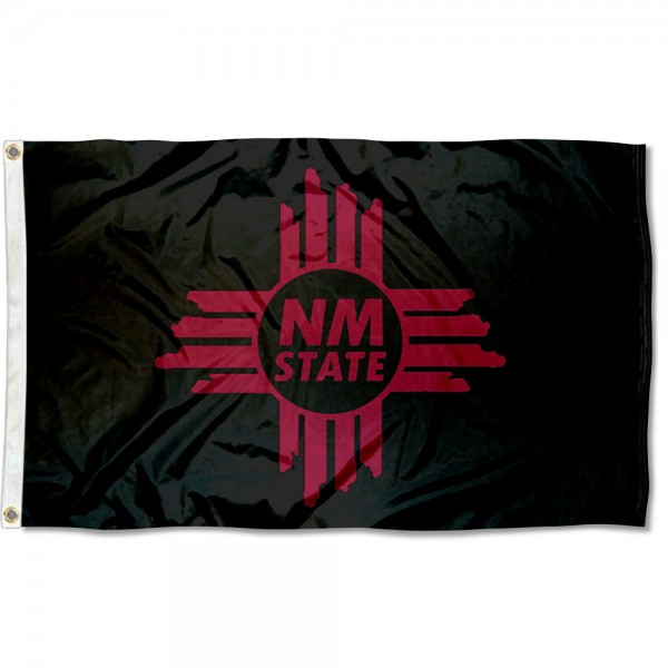 New Mexico State University NM Logo Flag