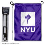 New York Violets Garden Flag and Yard Pole Holder Set