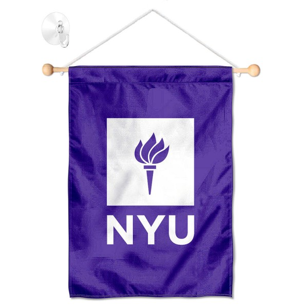 New York Violets Window Hanging Banner with Suction Cup