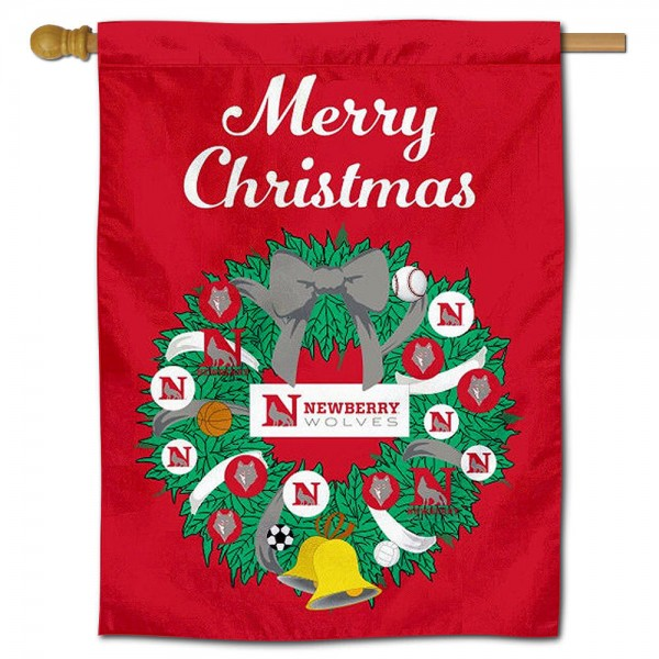 Newberry College Christmas Holiday House Flag