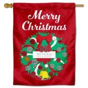 Nicholls State Colonels Christmas Holiday House Flag