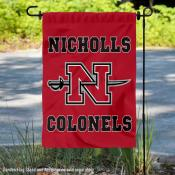 Nicholls State University Colonels Double Sided Garden Flag