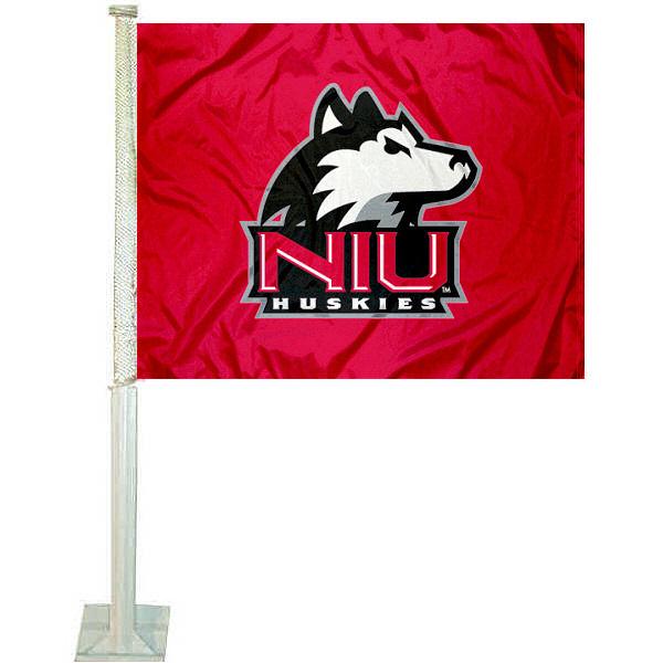 NIU Huskies Car Flag
