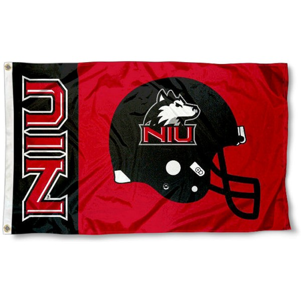 NIU Huskies Football Helmet Flag