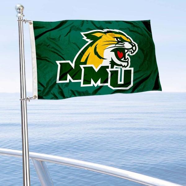 NMU Wildcats Boat Nautical Flag