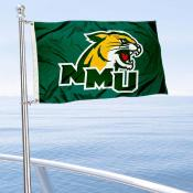 NMU Wildcats Boat Nautical Flag