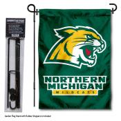 NMU Wildcats Garden Flag and Holder