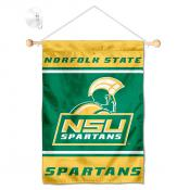 Norfolk State Spartans Window Hanging Banner with Suction Cup