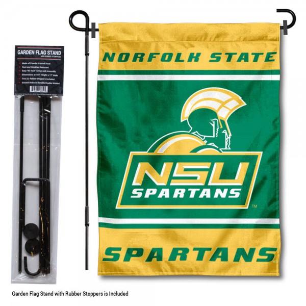 Norfolk State University Garden Flag and Yard Pole Holder Set