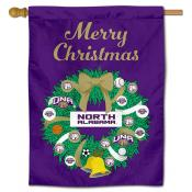 North Alabama Lions Christmas Holiday House Flag