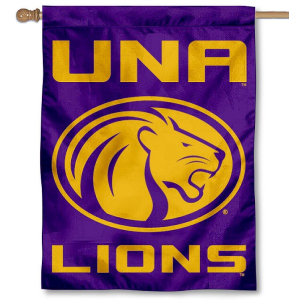 North Alabama UNA Lions House Flag
