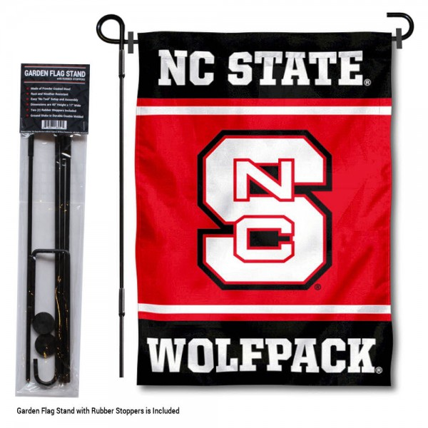 North Carolina State University Garden Flag and Yard Pole Holder Set