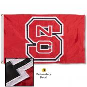 North Carolina State Wolfpack Appliqued Nylon Flag