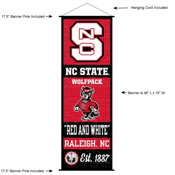 North Carolina State Wolfpack Wall Banner and Door Scroll