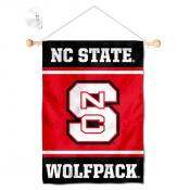 North Carolina State Wolfpack Window Hanging Banner with Suction Cup