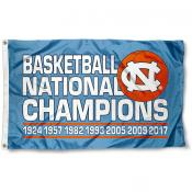 North Carolina Tar Heels 7 Time National Champs Flag