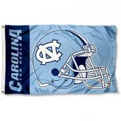 North Carolina Tar Heels Football Helmet Flag