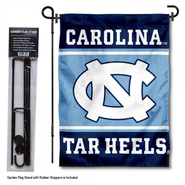North Carolina Tar Heels Garden Flag and Holder