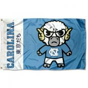 North Carolina Tar Heels Tokyodachi Cartoon Mascot Flag