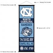 North Carolina Tar Heels Wall Banner and Door Scroll