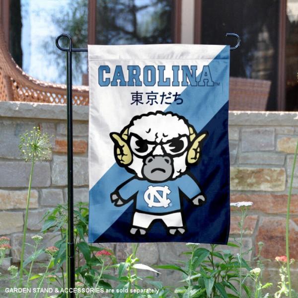 North Carolina Tar Heels Yuru Chara Tokyo Dachi Garden Flag
