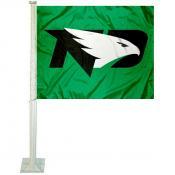 North Dakota Fighting Hawks Logo Car Flag