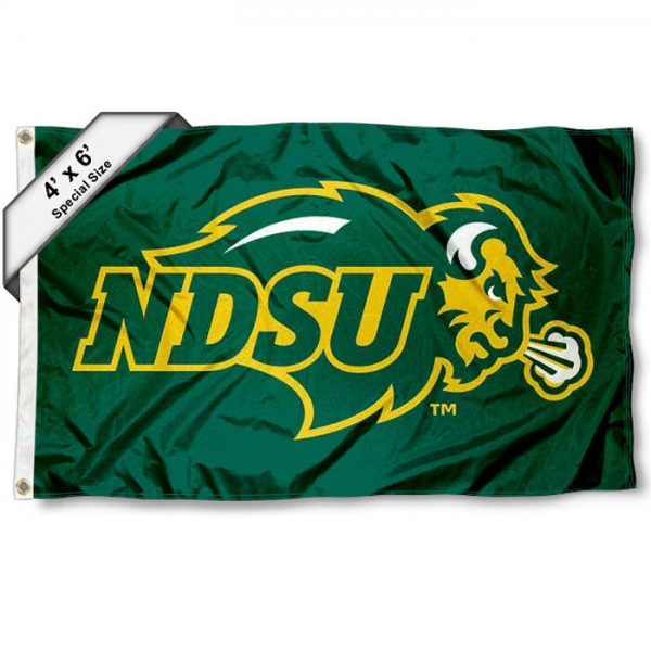 North Dakota State Bison 4'x6' Flag