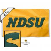 North Dakota State Bison Embroidered 2x3 Foot Flag