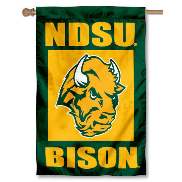 North Dakota State Bison House Flag