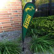 North Dakota State Bison Mini Teardrop Garden Flag