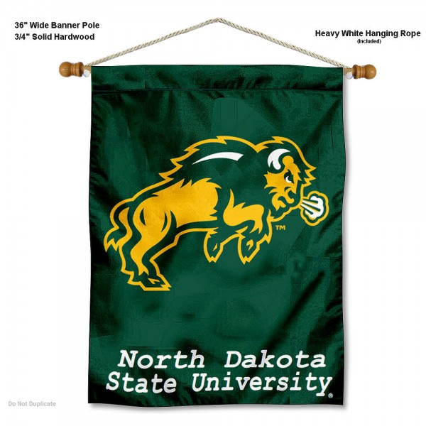 North Dakota State Bison Wall Hanging