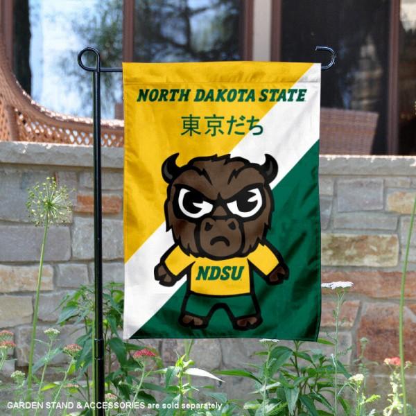 North Dakota State Bison Yuru Chara Tokyo Dachi Garden Flag